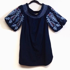 Zara off the shoulder embroidered dress Size S